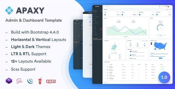 Apaxy - Admin & Dashboard Template - Admin Templates Site Templates