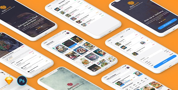 Hopmorth-Restaurant Mobile App UI Kit - Sketch Templates