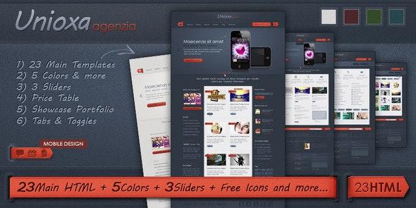 Unioxa HTML Template: Portfolio/Agency/Business - Creative Site Templates