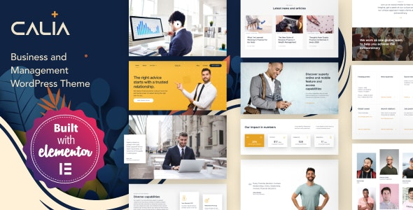 Calia - Business and Management WordPress Theme - Business Corporate