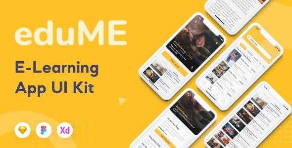 Edume - E Learning App Mobile UI Kit - Creative Sketch