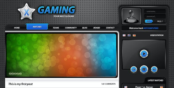 Advanced Game PSD Layout - Clan website