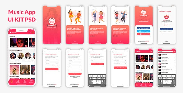 Cexzlek Mobile App PSD - PSD Templates