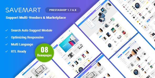 Savemart | Multi-Vendor & Marketplace Prestashop 1.7 Theme ( Compatible JA Marketplace ) - Shopping PrestaShop