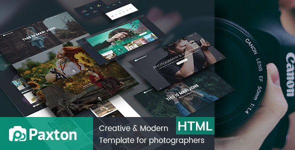 Paxton - Photography Portfolio Template - Photography Creative