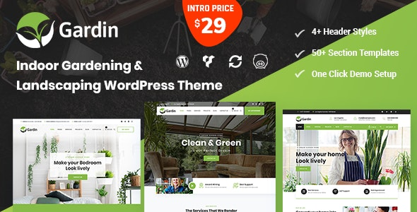 Gardin - Indoor Gardening WordPress Theme - Business Corporate