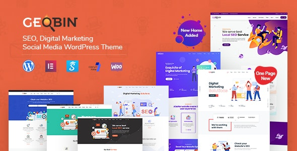GeoBin | SEO, Startup & SaaS WordPress Theme - Marketing Corporate