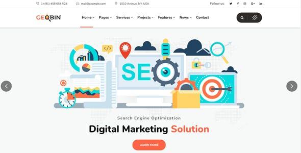 GeoBin | SEO, Startup & SaaS WordPress Theme