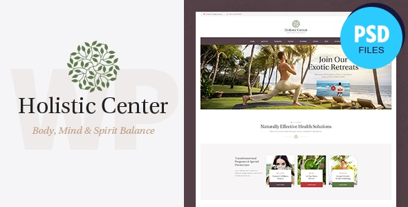 Holistic Center | Wellness & Spa Salon PSD Template - Health & Beauty Retail