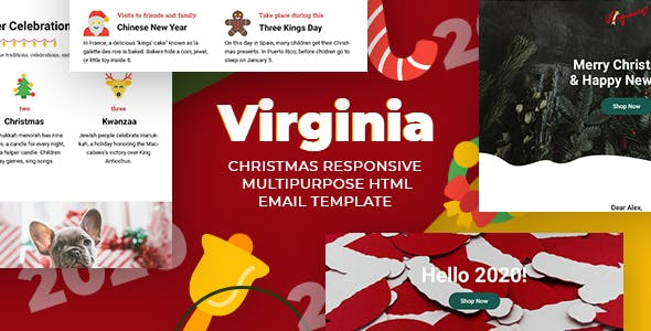 Responsive Christmas Email template + StampReady, MailChimp & CampaignMonitor compatible files