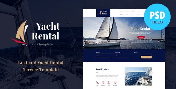 Yacht Rental | Boat Service PSD Template - Travel Retail
