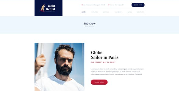 Yacht Rental | Boat Service PSD Template