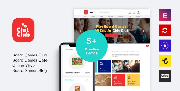 Chit Club | Board Games Club & Anticafe WordPress Theme - WooCommerce eCommerce