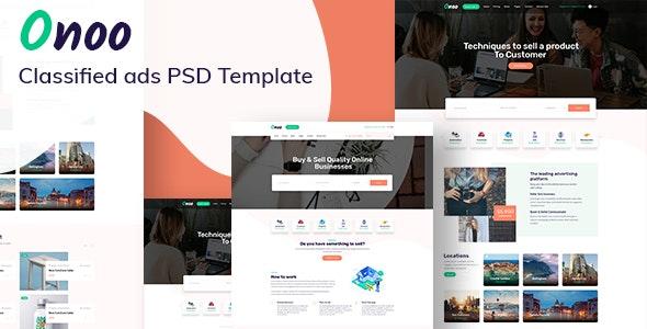 Onoo - Classified Ads PSD Template - Corporate PSD Templates
