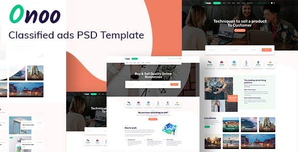 Onoo - Classified Ads PSD Template