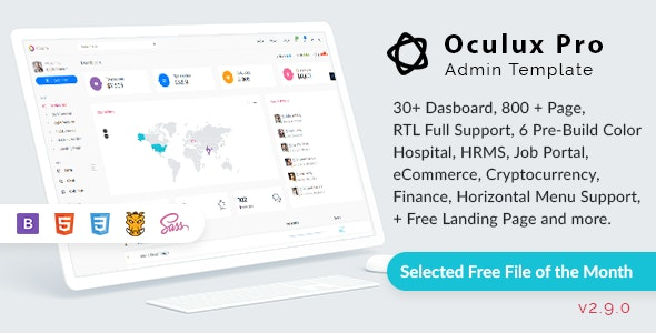 Oculux - Bootstrap 4.5.0 Admin Dashboard Template & UI KIT - Admin Templates Site Templates