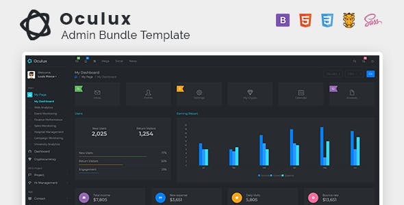 Oculux - Bootstrap 4.5.0 Admin Dashboard Template & UI KIT