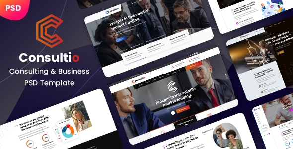 Consultio - Consulting Business PSD Template - Corporate PSD Templates