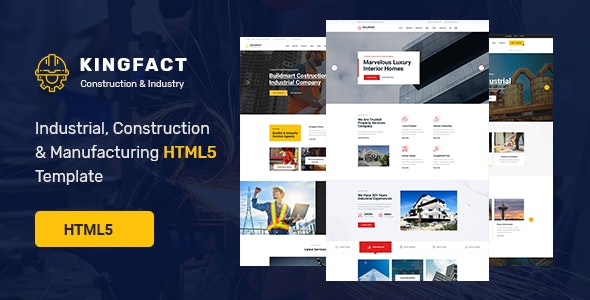 Kingfact - Industrial Construction & Manufacturing HTML5 Template - Business Corporate