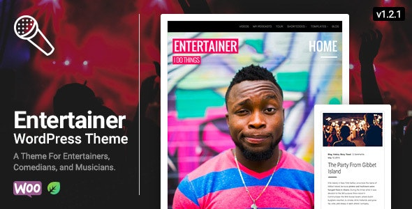 Entertainer - A WordPress Theme for the Entertainment Industry - Film & TV Entertainment