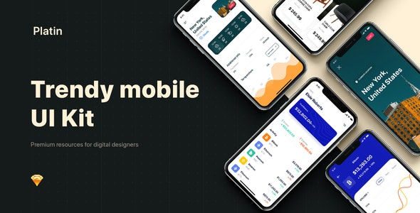 PLATIN - Multipurpose Card-based UI Kit - Creative Sketch