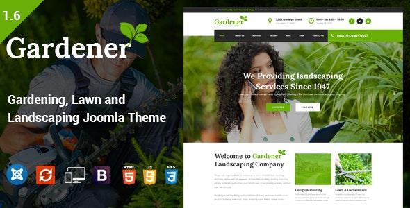 Gardener - Gardening, Lawn and Landscaping Joomla Theme - Business Corporate