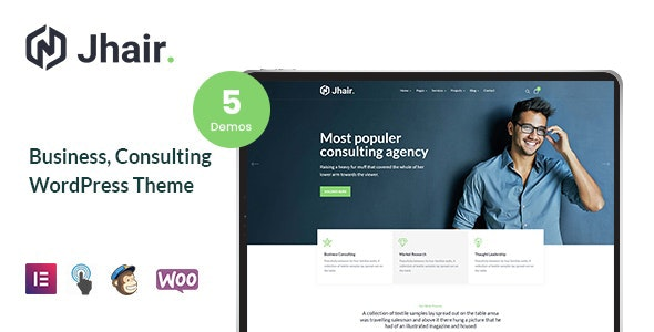 Jhair - Business, Consulting WordPress Theme - Business Corporate