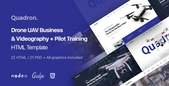 Quadron | Drone UAV Business & Videography HTML Template - Technology Site Templates