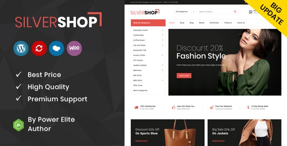 Silver Shop - Multipurpose WooCommerce Theme - WooCommerce eCommerce