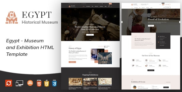 Egypt - Museum and Artists HTML Template - Nonprofit Site Templates