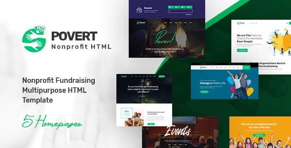 Povert - Nonprofit Fundraising Multipurpose HTML Template