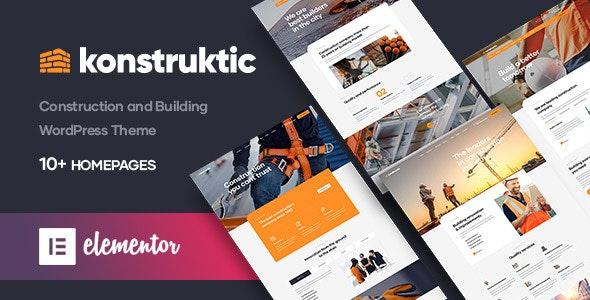 Konstruktic - Construction & Building WordPress Theme - Business Corporate