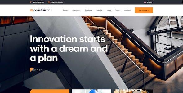 Konstruktic - Construction & Building WordPress Theme