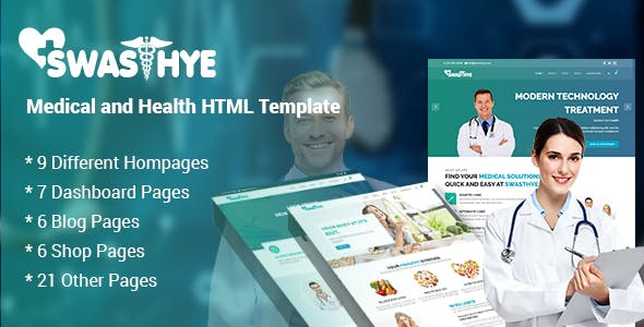 Swasthye - Multipurpose Medical and Health HTML template