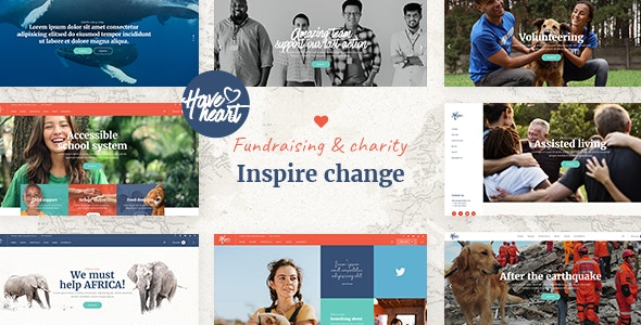 HaveHeart - Fundraising and Charity Theme - Charity Nonprofit