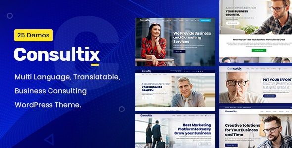 Consultix - Business Consulting WordPress Theme - Business Corporate