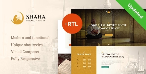 Shaha | Islamic Centre & Mosque WordPress Theme + RTL - Churches Nonprofit