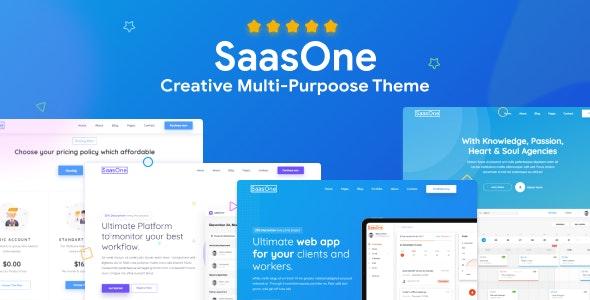 SaasOne — Creative Agency, Corporate and Portfolio Multi-purpose Template - Technology Site Templates