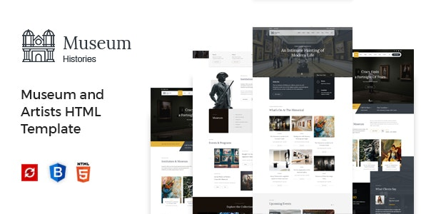 Museum - Exhibition and Artists HTML Template - Nonprofit Site Templates