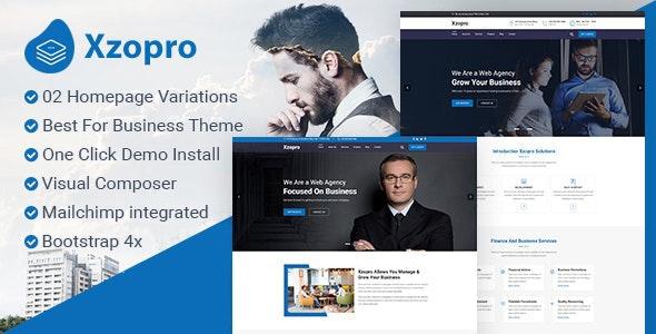 Xzopro - Finance And Business WordPress Theme - Business Corporate