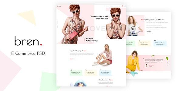 Bren - Minimal E-commerce PSD Template - Shopping Retail