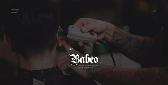 Mr.Babeo   Barbershop, Hair Salon & Spa Apps UI Kit