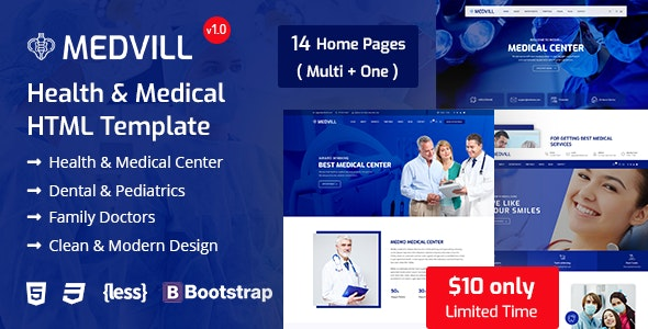 Medvill - Medical HTML Template - Health & Beauty Retail