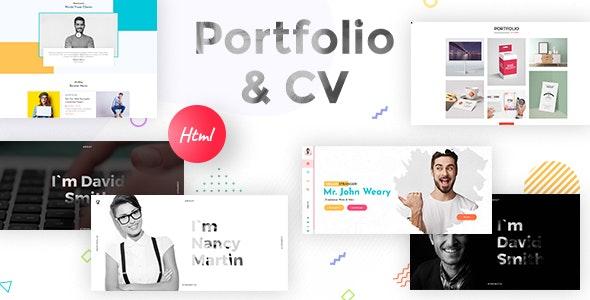 Resume, CV & Portfolio Responsive HTML 5 Template by kamleshyadav
