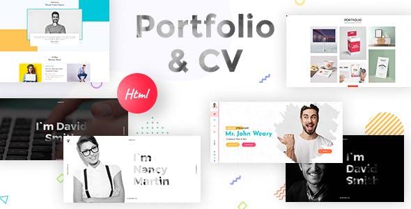 Resume, CV & Portfolio Responsive  HTML 5 Template