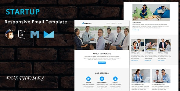 Startup - Responsive Email Template - Newsletters Email Templates