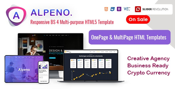 Alpeno - One Page Parallax - Portfolio Creative