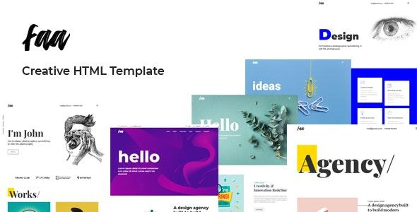 Faa - Creative HTML Template - Creative Site Templates