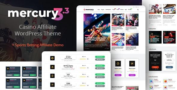 Mercury -  Gambling & Casino Affiliate WordPress Theme. News & Reviews - News / Editorial Blog / Magazine