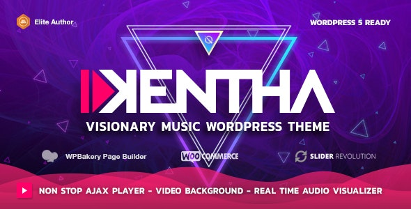 Kentha - Non-Stop Music WordPress Theme with Ajax - Music and Bands Entertainment